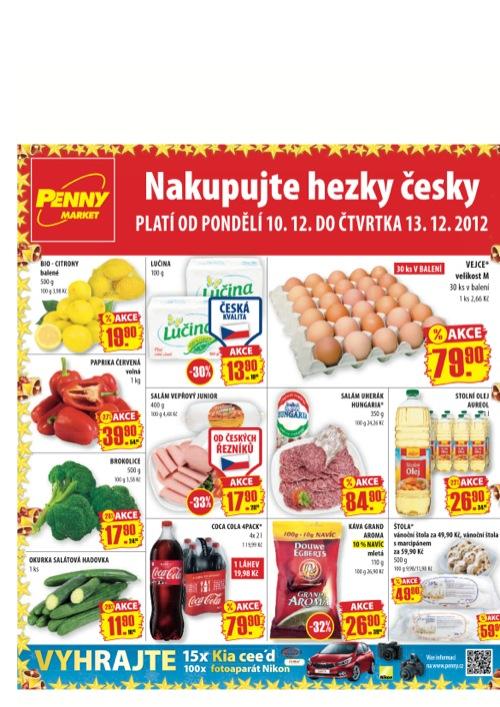 Leták Penny Market  (od 10. 12. do 13. 12. 2012)