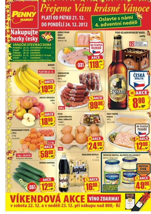 Leták Penny Market  (od 21. 12. do 24. 12. 2012)
