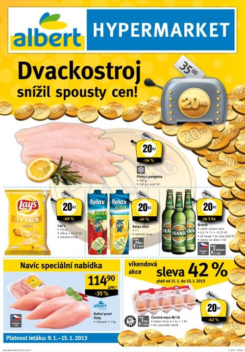 Leták Albert hypermarket (od 9. 1. do 15. 01. 2013)