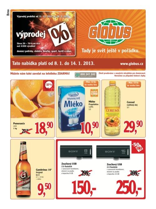 Leták Globus novinky (od 8. 1. do 14. 01. 2013)