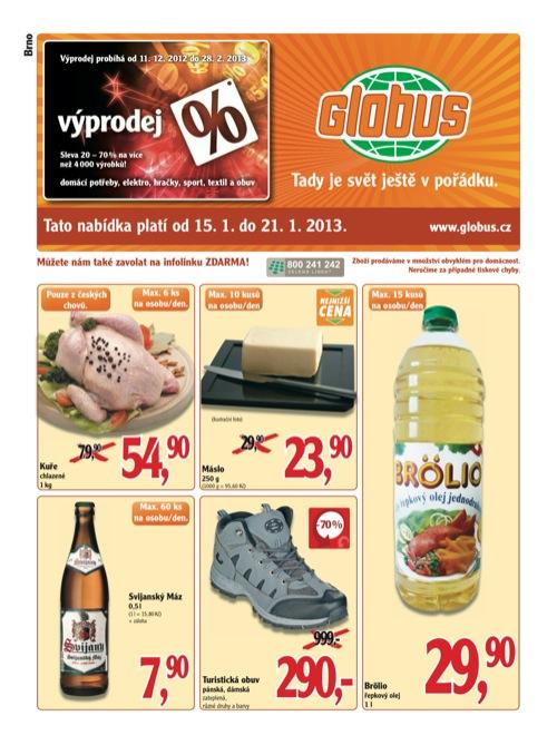 Leták Globus novinky (od 15. 1. do 21. 01. 2013)