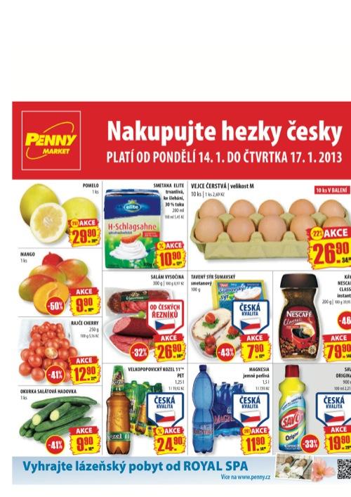 Leták Penny Market  (od 14. 1. do 17. 01. 2013)