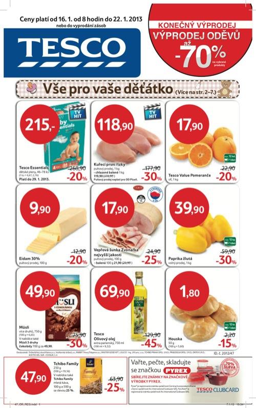 Leták Tesco hypermarket velký (od 16. 1. do 22. 01. 2013)