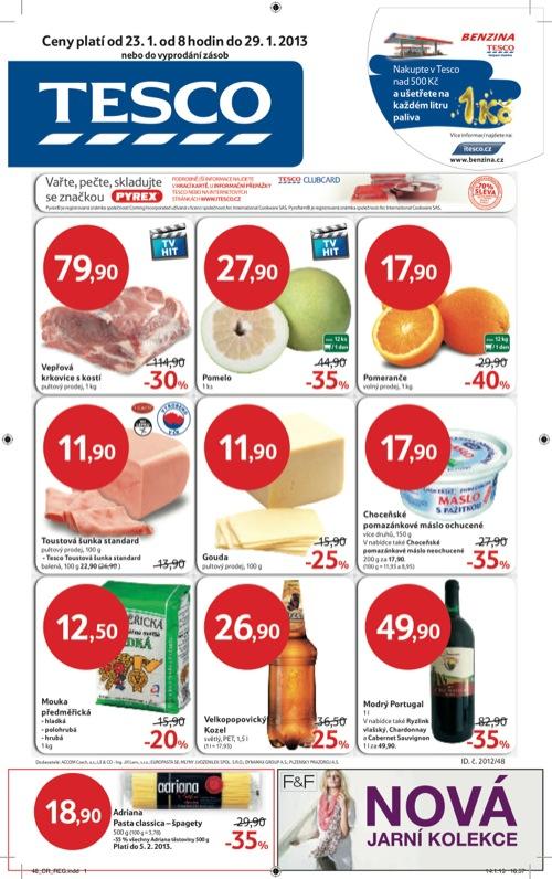 Leták Tesco hypermarket velký (od 23. 1. do 29. 01. 2013)