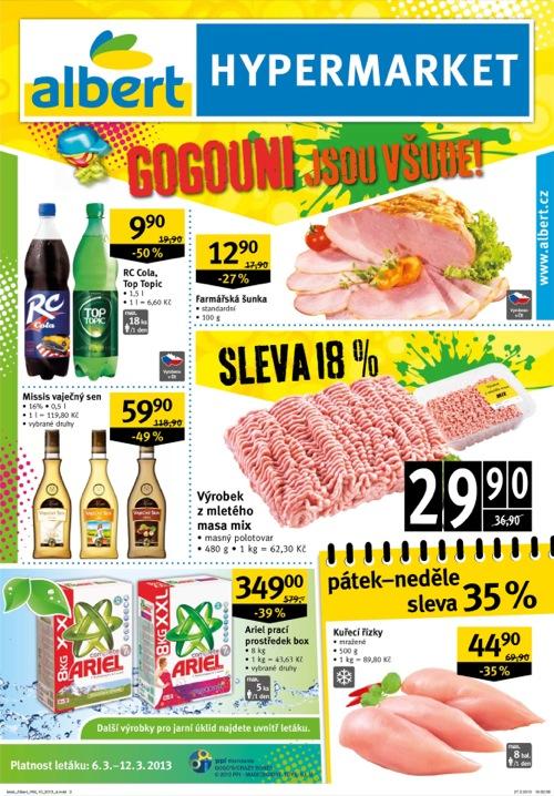 Leták Albert hypermarket (od 6. 3. do 12. 03. 2013)
