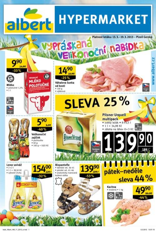 Leták Albert hypermarket (od 13. 3. do 19. 03. 2013)