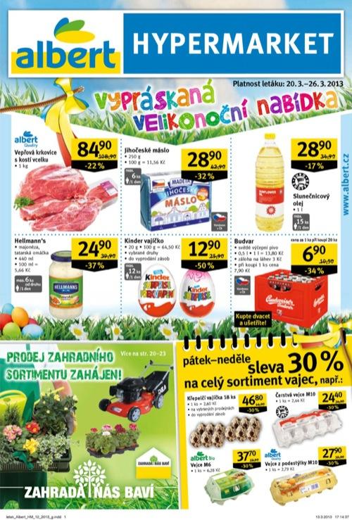 Leták Albert hypermarket (od 20. 3. do 26. 03. 2013)