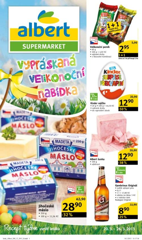 Leták Albert supermarket (od 20. 3. do 26. 03. 2013)