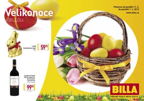 Leták Billa Velikonoce (od 11. 3. do 1. 04. 2013)