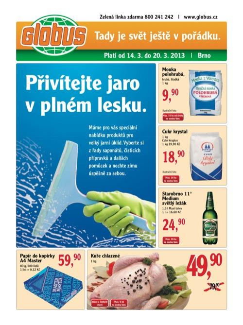 Leták Globus novinky (od 14. 3. do 20. 03. 2013)