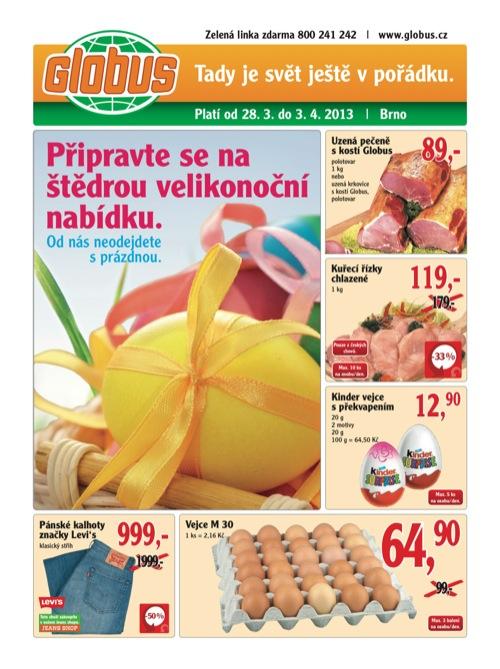 Leták Globus novinky (od 28. 3. do 3. 04. 2013)