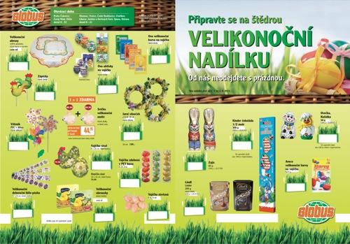 Leták Globus velikonoční nadílka (od 7. 3. do 1. 04. 2013)