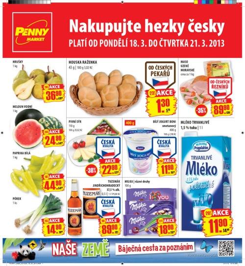 Leták Penny Market  (od 18. 3. do 21. 03. 2013)