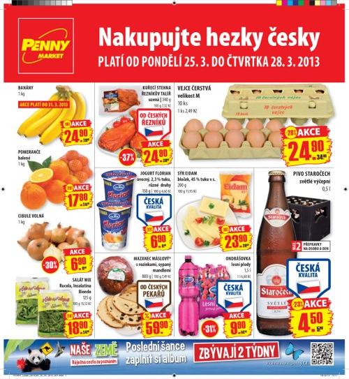 Leták Penny Market  (od 25. 3. do 28. 03. 2013)