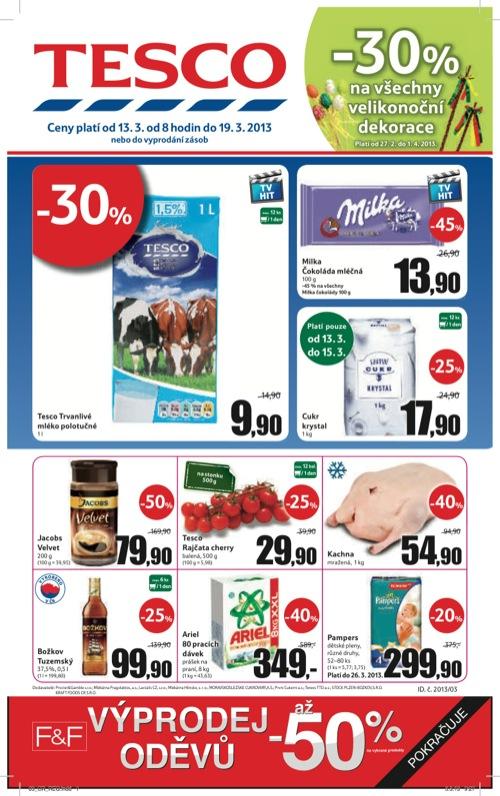 Leták Tesco hypermarket velký (od 13. 3. do 19. 03. 2013)