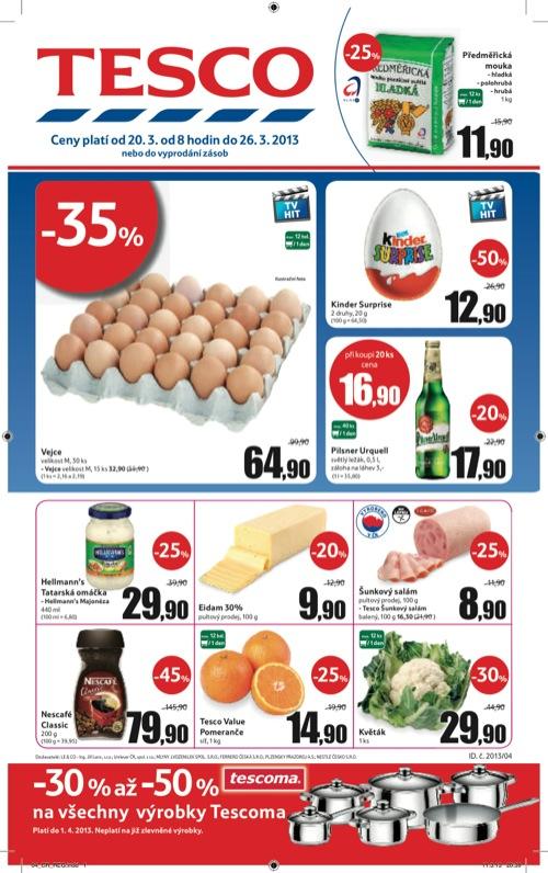 Leták Tesco hypermarket velký (od 20. 3. do 26. 03. 2013)