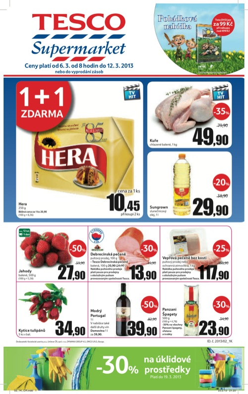 Leták Tesco supermarket (od 6. 3. do 12. 03. 2013)