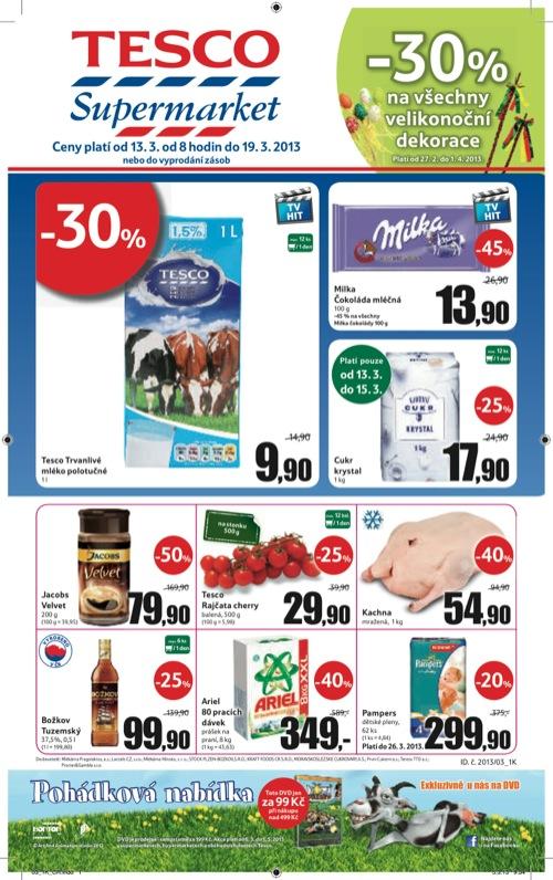 Leták Tesco supermarket (od 13. 3. do 19. 03. 2013)