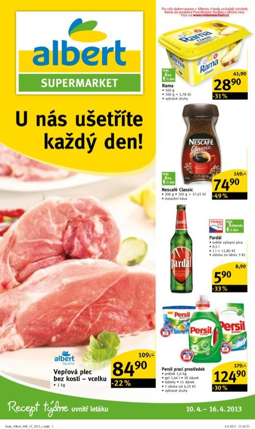 Leták Albert supermarket (od 10. 4. do 16. 04. 2013)