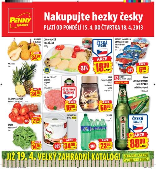 Leták Penny Market  (od 15. 4. do 18. 04. 2013)