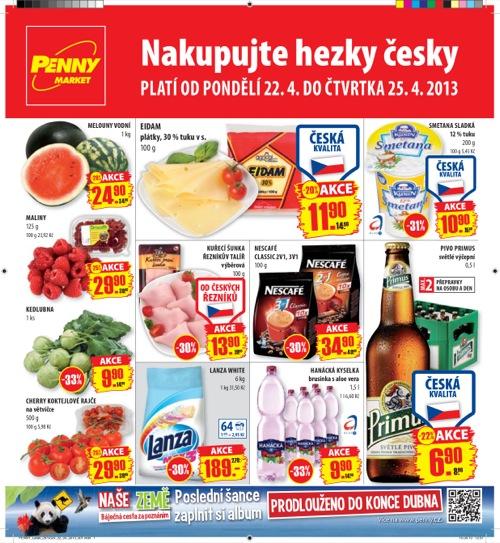 Leták Penny Market  (od 22. 4. do 25. 04. 2013)