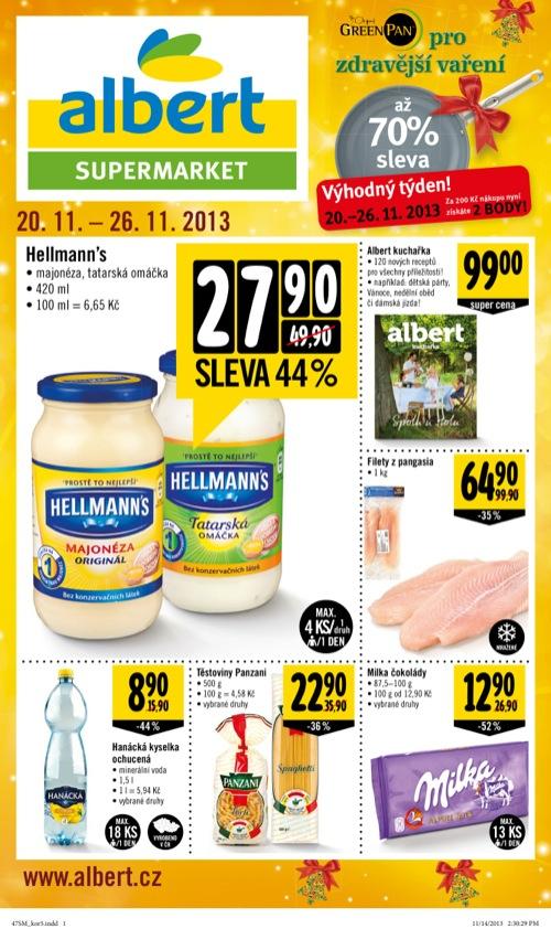 Leták Albert supermarket (od 20. 11. do 26. 11. 2013)